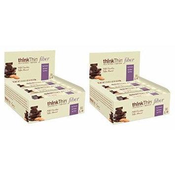 Think Thin 20 Pack (2 X Box of 10)- (Fiber Milk Chocolate Toffee Almond) 10-50g Bars Net Wt 17.6oz (500G)