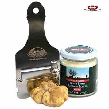 Alma Gourmet White Truffles Kit (Fresh White Truffles 1oz, Truffle Butter 8,5oz and Truffle Slicer)