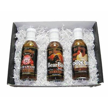 Gourmet Barbeque Sauce Variety Christmas Holiday BBQ Gift 3 Pack - Hawgwash, Bear Bite, Chick Dip