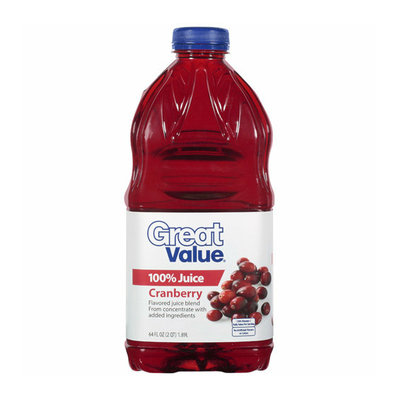 Great Value : 100% Cranberry Juice