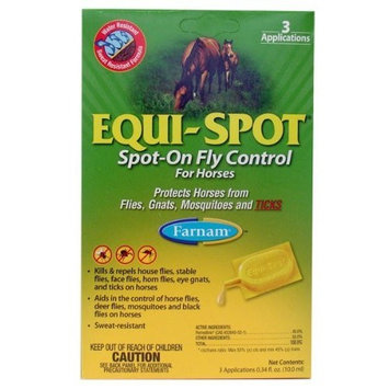 Equi spot Equi-Spot: Spot-On Fly Control for Horses (3 10mL tubes)