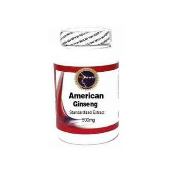American Ginseng Standardized Extract 500mg 200 Capsules # BioPower
