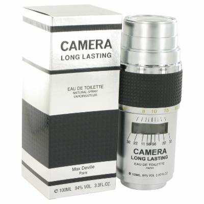 Camera Long Lasting for Men by Max Deville EDT Spray 3.4 oz