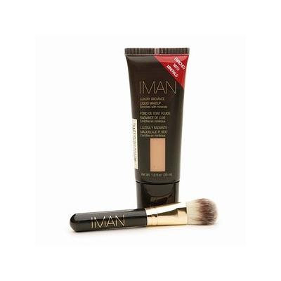 IMAN Luxury Radiance Second to None Liquid Makeup & Brush Set EARTH 2