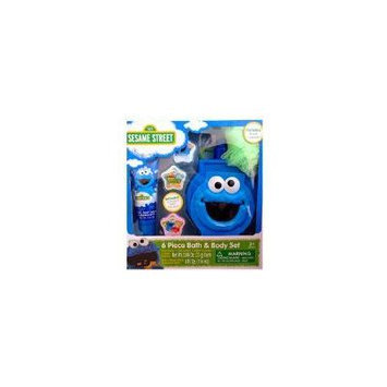 Sesame Street 6 Piece Bath & Body Set Elmo and Cookie Monster Perfect Christmas Gift Ready to Wrap (COOKIE MONSTER)