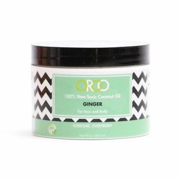 ORGO 100% Non Toxic Organic Ginger Scented Coconut Oil For Face and Body - Everyday Everybody