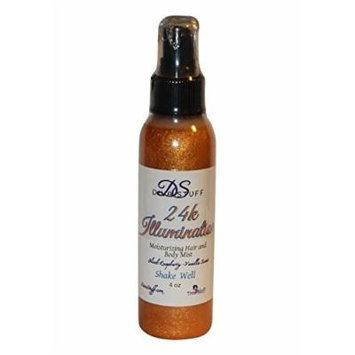 24k Shine Illuminating and Moisturizing Hair and Body Spray, Blackraspberry Vanilla Scent