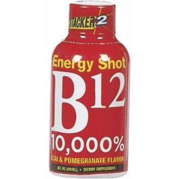 STACKER 2 ENERGY SHOT B12 ACAI & POMEGRANATE 2 OZ EACH (1)