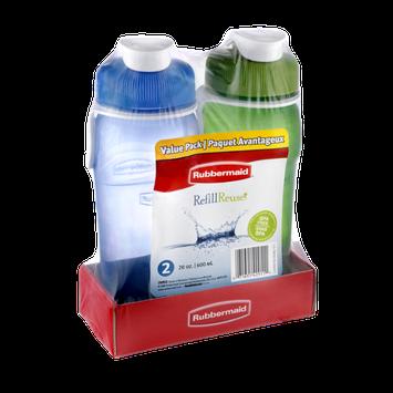Rubbermaid Refill Reuse Value Pack 20oz Bottles - 2CT