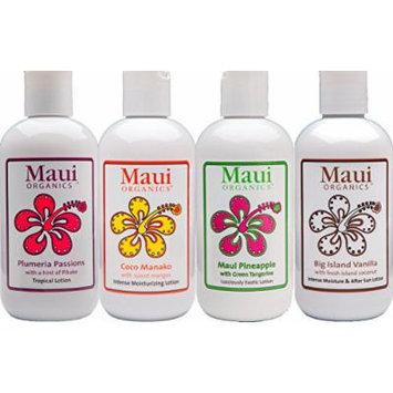 Maui Organic All Natural Body Lotion Gift Set Pack - Hawaiian Islands 34oz