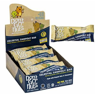 Don't Go Nuts Nut-Free Organic Snack Bars, Celestial Campout, Honey Graham, White and Dark Chocolate and Crunch, 12 Count