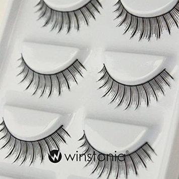 Winstonia 5 Pairs False Eyelashes Fake Lashes Fashion Makeup Cosmetic - Natural Thin 10