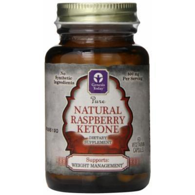 Genesis Nutrition Today Natural Raspberry Ketones Diet Supplement, 60 Count