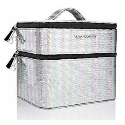 Victoria's Secret Sequin Train Case Cosmetic Travel Case