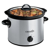 Crock-Pot Round Electric Slow Cooker - Stainless Steel(3 Quart)