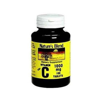 Nature`s Blend Vitamin C 1000mg Tablets 100 ct