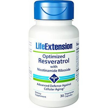 Life Extension Optimized Resveratrol with Nicotinamide Riboside 30 Vegetarian Capsules