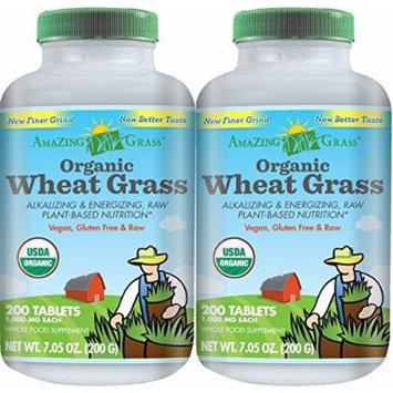 Amazing Grass Organic Wheat Grass Tablets 400