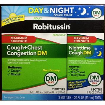 Robitussin Dm Max Day 8oz & 4 Oz. Dm Max Night 8oz, 2.0299999999999998 Pound