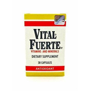 New Vital Fuerte Vitamins & Minerals Dietary Supplement 30 Capsules Antioxidant
