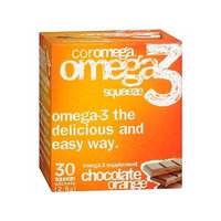 Coromega Omega-3 Supplement, Orange Flavor with a hint of Chocolate 30 ea