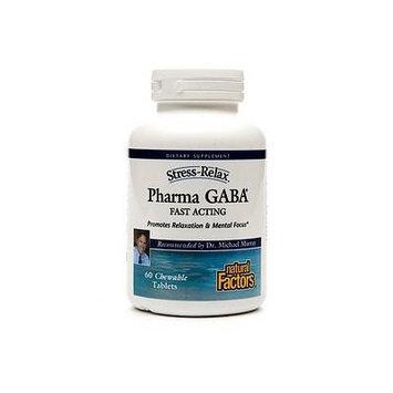 Natural Factors Pharma GABA, Chewable Tablets 60 ea