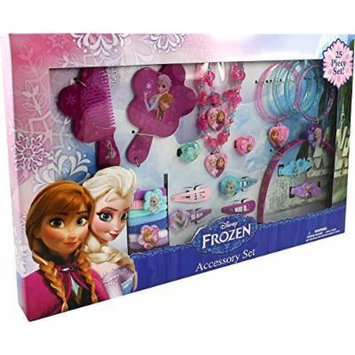 Disney Frozen Anna & Elsa 25 Piece Kids Jewelry and Hair Accessory Gift Set