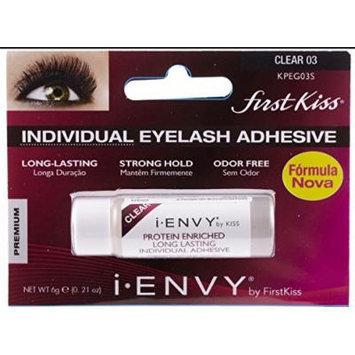 Kiss I. Envy Eye Lash Adhesive (6g Individual, Clear)