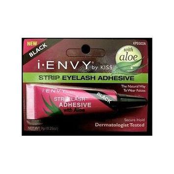 Kiss I. Envy Eye Lash Adhesive (7g Strip (Tube), Jet Black)