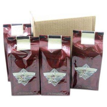 Coffee Masters Vanilla Raspberry Mountain Water Decaffeinated Ground Case Of Four Valve Bags