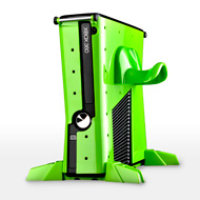 Calibur 11 Xbox 360 Slim Vault: Nuclear Green