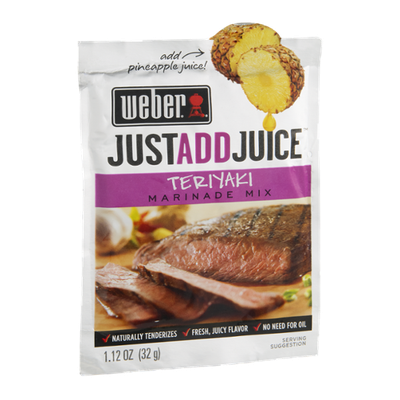Weber Just Add Juice Marinade Mix Teriyaki