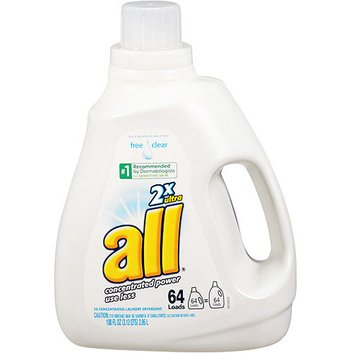 All 2X Ultra Free Clear Liquid Laundry Detergent