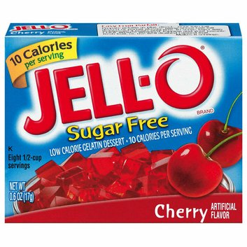 Jell-O : Sugar Free Cherry Low Calorie Gelatin Dessert