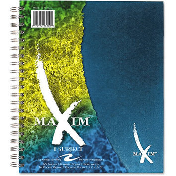 Roaring Spring Paper Products 13200 Maxim One Subject Notebook - 90 Sheets Per Pad