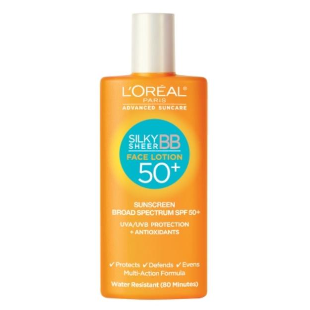 L'Oréal Paris Advanced Suncare Silky Sheer BB Face Lotion SPF 50+, 1.7 fl oz