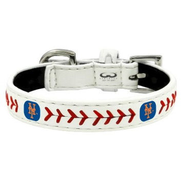 GameWear New York Mets Classic Leather Toy Baseball Collar