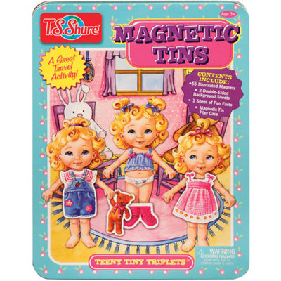 T.S. Shure Teeny Tiny Triplets Magnetic Tin Play Set