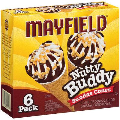 Mayfield Nutty Buddy Sundae Cones, 3.5 fl oz, 6 count