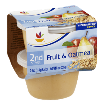 Ahold 2nd Stage Baby Food Fruit & Oatmeal - 2 CT