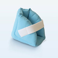 NYOrtho Quilted Heel Protector with Super-Fluffy / Super-Soft in Light Blue