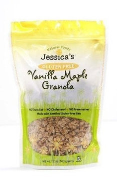 Jessica's Natural Foods GRANOLA, VANILLA MPL,G/F, (Pack of 12)