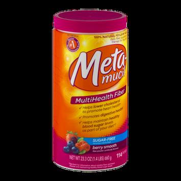 Meta-Mucil MultiHealth Fiber Sugar-Free Powder Berry Smooth