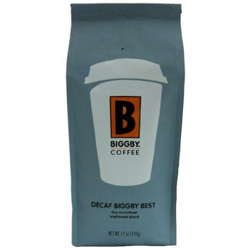 BIGGBY Coffee, Best Blend Decaf, Ground Coffee, 12-Ounce Bags (Pack of 3)