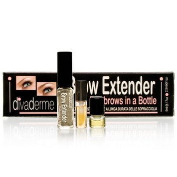 Divaderme Brow Extender Eye Brows in a Bottle Chocolate Brown