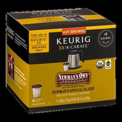 Newman's Own Organics Special Blend Medium Roast Coffee Keurig 2.0/K-Carafe Packs - 4 CT