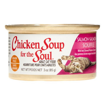 Chicken Soup For The Soul Grain Free Salmon Souffle with Red Skinned Potatoes and Spinach Canned Cat Food