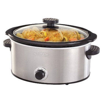 Sensio Bella 5QT Manual Slow Cooker, Stainless Steel