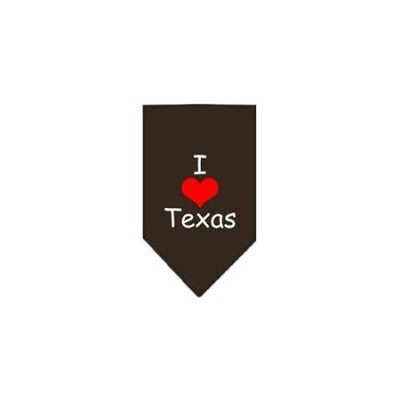 Ahi I Heart Texas Screen Print Bandana Cocoa Large