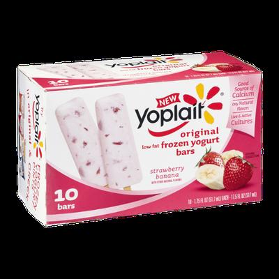 Yoplait® Original Strawberry Banana Low Fat Frozen Yogurt Bars